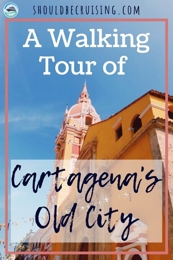 On our Panama Canal cruise, we stopped in the beautiful South American port of Cartagena, Colombia and took a walking tour of the Old City.  #cartagena #cartagenacolombia #travelcolombia #cruise #panamacanalcruise #travel