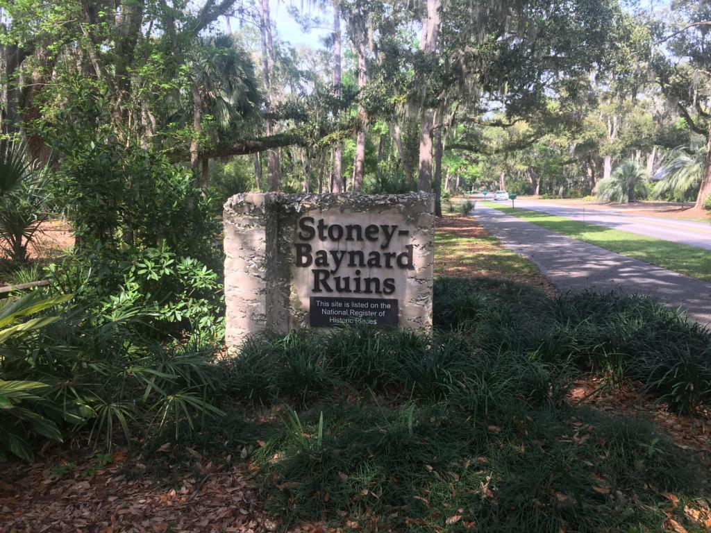 Stoney-Baynard Ruins Sign