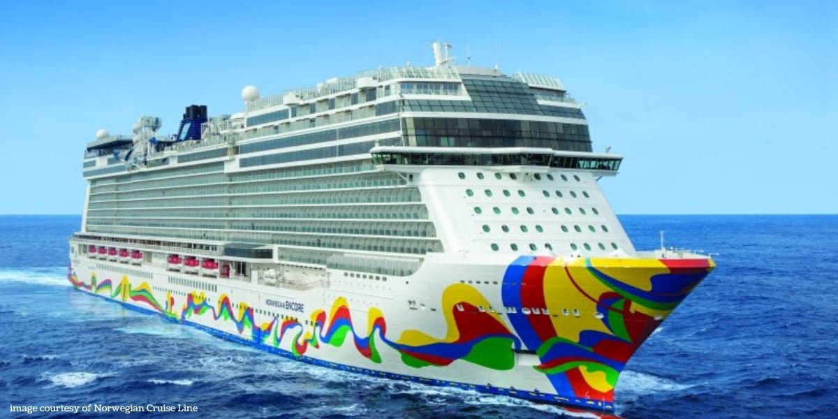 Norwegian Encore ship at sea