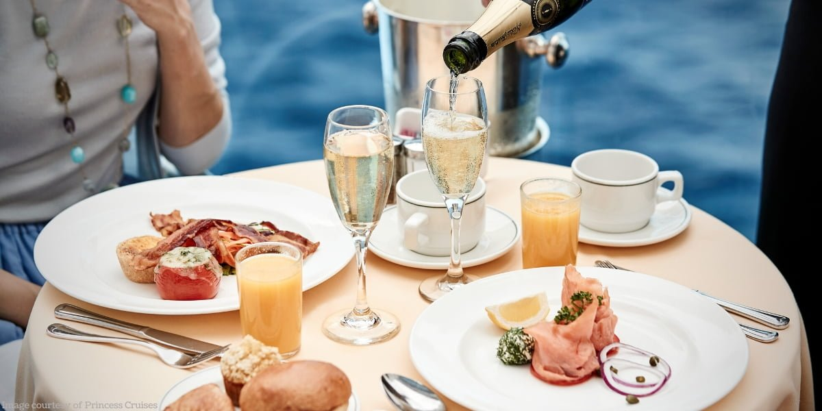 Ultimate Balcony Dining Breakfast table on Princess Cruises
