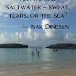 """""""The cure for anything is saltwater – sweat, tears, or the sea."""" - Isak Dinesen"""
