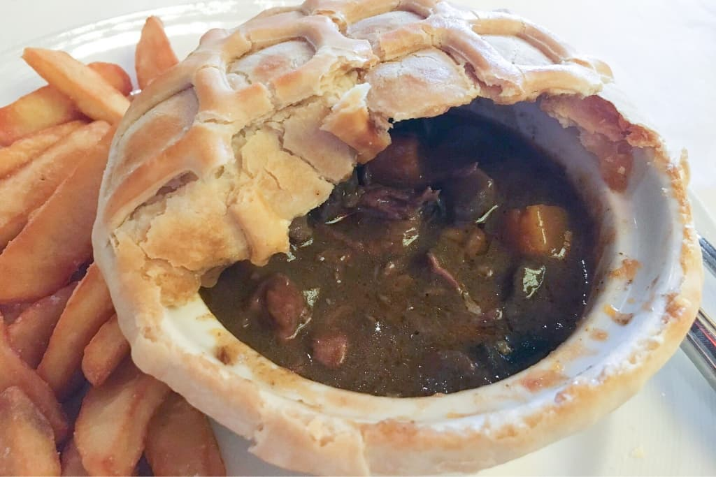 Princess Cruises Pub Lunch Steak and Kidney Pie filling