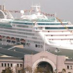 cruise ship on embarkation day at pier 35