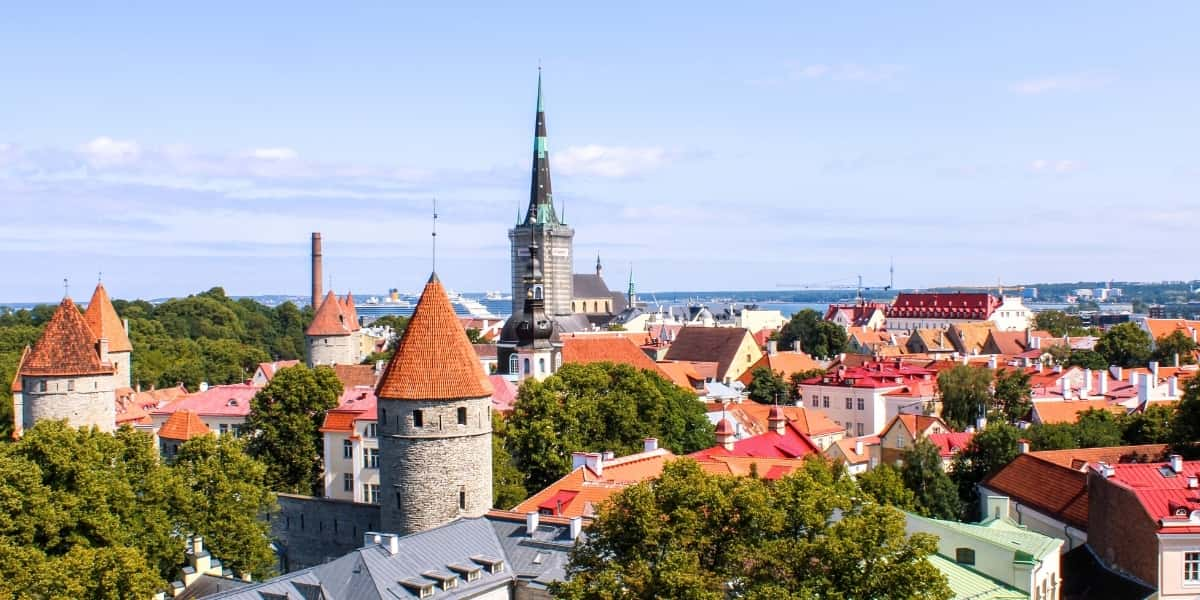Tallinn Old Town from PItkuli viewing platform