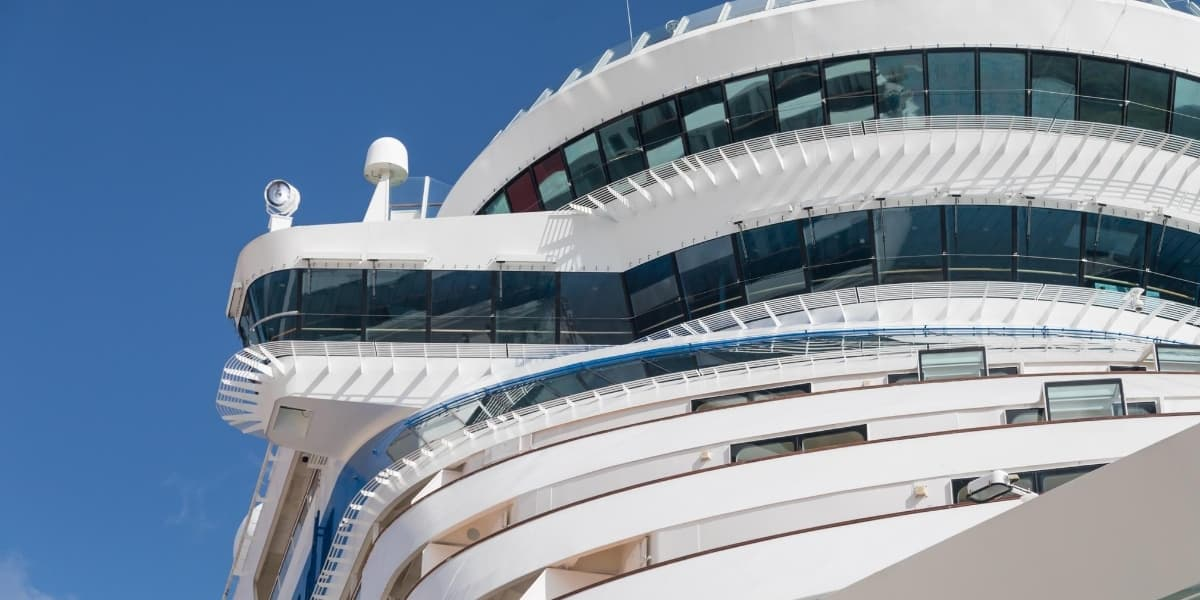 cruise ship closeup view - cruise terms