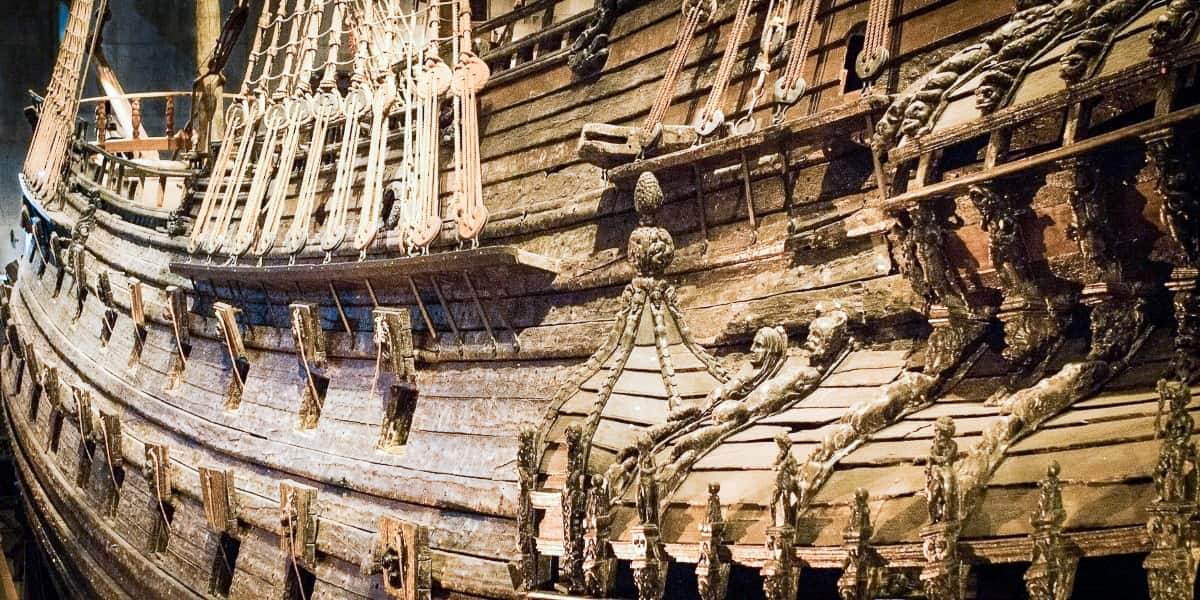 A side view of the warship Vasa