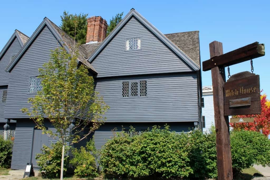 Outside view of the Salem Witch House