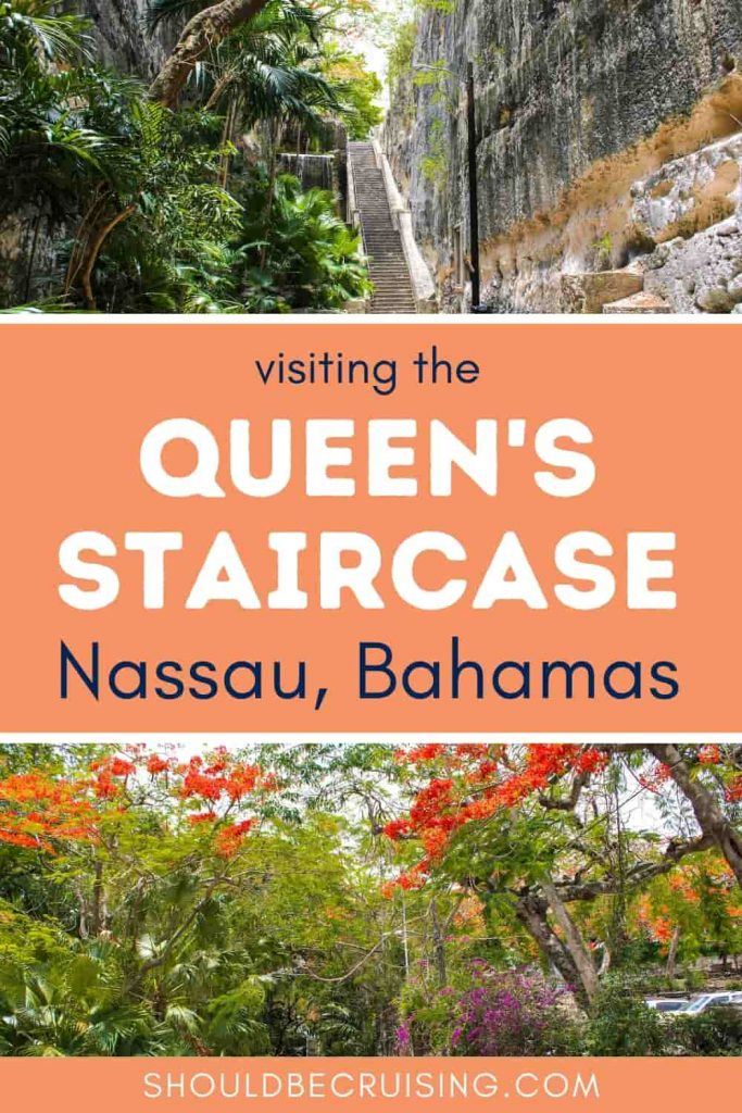 Visiting the Queen's Staircase Nassau Bahamas