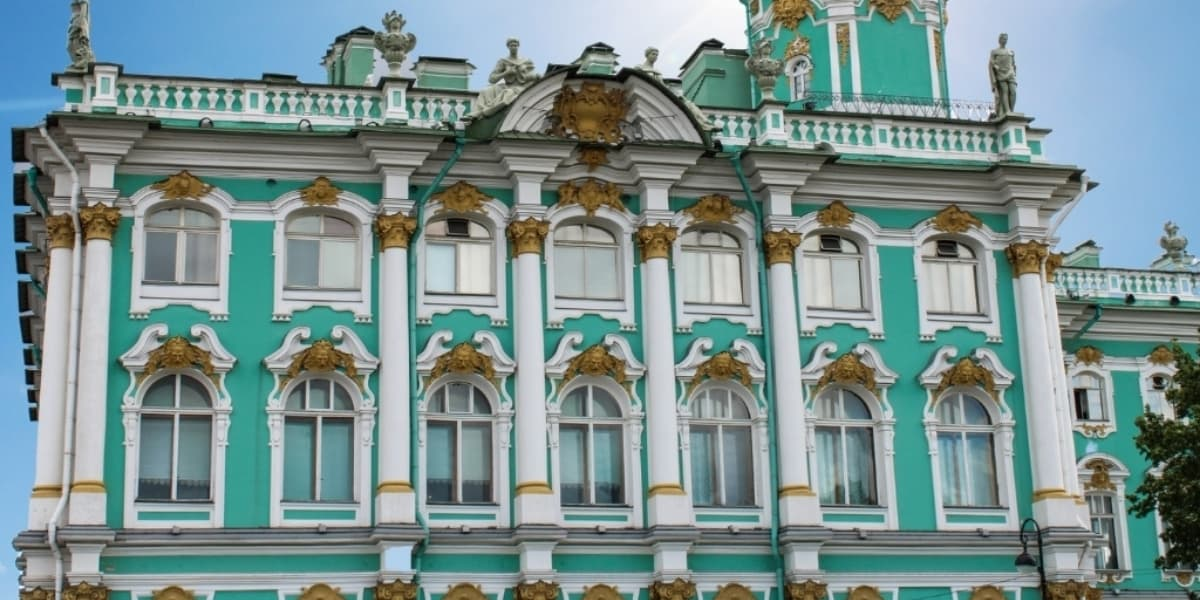Exterior view of the Hermitage Museum, St. Petersburg Russia